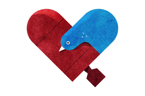 tumblr lzfaxd5mkm1rpywm4o1 5001 Love and Hate Versus Hearts by Dan Matutina