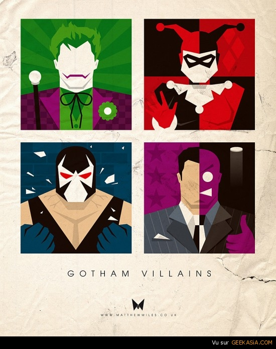 Batman - Les vilains de Gotham City par Matthew Miles