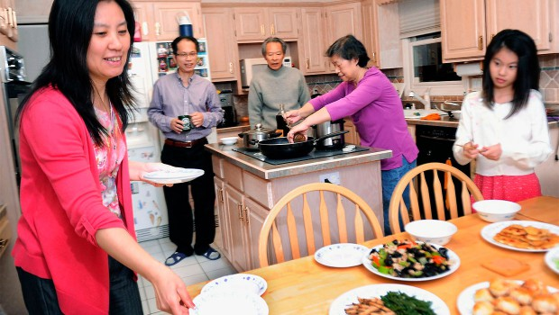 Chinese people at home
