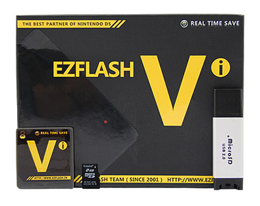 EZ-Flash Vi et Stylets + Kingston microSD 2GB