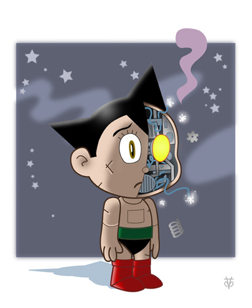 astro boy background