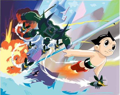 astro boy in battle