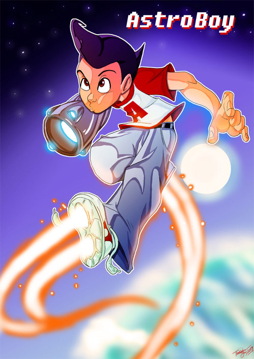astro boy fight