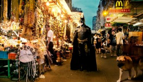 Batman lost in Hong Kong